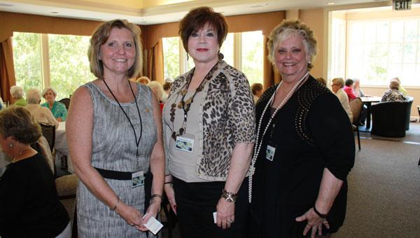 Media Relations Coordinator Jan Thompson, Chapter President Sharon Kiker, Coordinator Sue Greer work to raise scholarship money during Games Galore Aug. 30. (Reporter photo/Christine Boatwright)