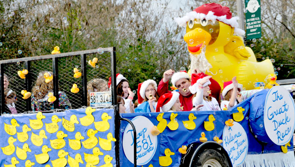 Helena's annual Christmas parade showcases the many things the town has to offer. Pictured is a float from a previous parade. (File)