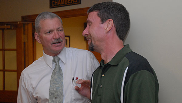 Pelham Mayor Gary Waters, left, and Council President Rick Hayes, right, are split on the idea of a Pelham city school system. (File)