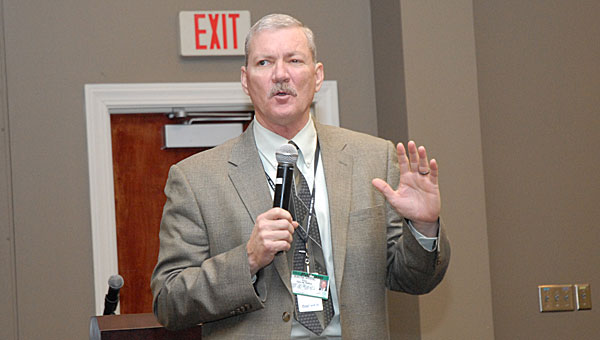 Pelham Mayor Gary Waters speaks during the first Pelham business council meeting at the Pelham Civic Complex in January. The city will hold the second meeting on April 23. (File)