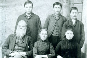 James Lindsey was with General Robert E. Lee when he surrendered at Appomattox Courthouse on April 9, 1865, and was paroled at Burkesville Junction, April 14-17, 1865. Here he is pictured with his wife Sarah, and daughter, Jerome, on the front row. Back row are sons James Robert, Joseph Samuel and Sylvester Lindsey. (Contributed)