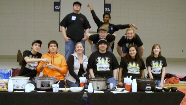 Members of the Calera High School Choir held a chili cook-off to raise funds to travel to New York to sing at Carnegie Hall. (Contributed)