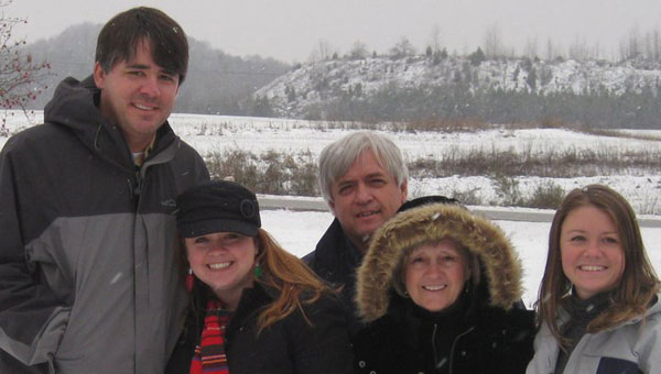 Jane Hampton enjoys time with her family, from left, Shel and Emily Hampton Davis, husband John and their daughter, Katie. (Contributed)