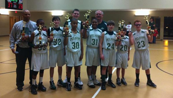 The Pelham 6th Grade won the 2013 Pelham/Helena/Alabaster Park and Recreation basketball championship. (Contributed)