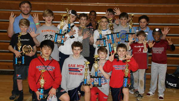 Alabama Wrestling Club captured two state titles in different classifications in a span of two-weeks. (Contributed)