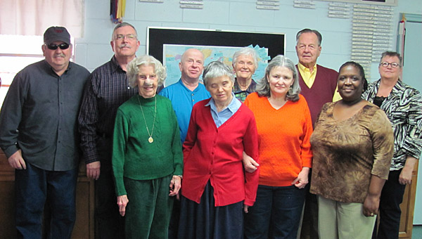 Low vision support group members, front from left, Betty Nix, Sue Schulgin, Michelle Creamer, Gwen Brown, and back row from left, Greg Bunn, Jim Czeskleba, Johnny Blake, Bernice Wilkinson, Jim Wilkinson and Cindy Blake. (Contributed)