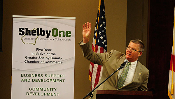 Greater Shelby Chamber of Commerce President Kirk Mancer recently announced the Chamber exceeded its fundraising goal for the Shelby One campaign. (File)