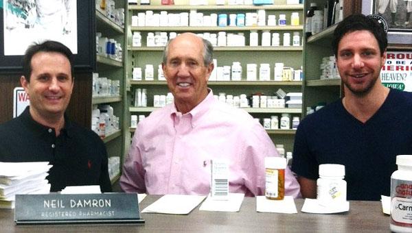 From left, Darren Long, Neil Damron and Greg Groom of Neil's Pharmacy. (contributed)