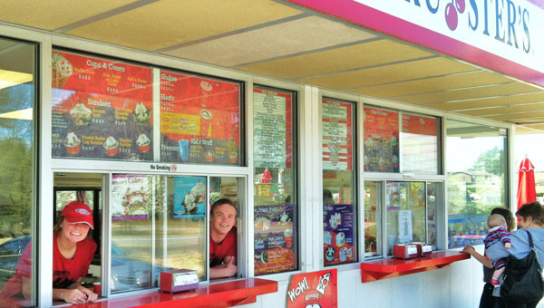 Friendly employees await customers at Bruster's in Indian Springs. (Contributed)