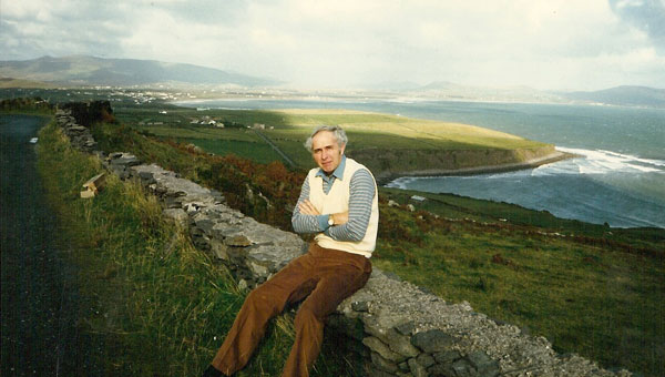 On a visit to Ireland, author David Morgan sits on a wall enjoying the stiff breeze. (Contributed)