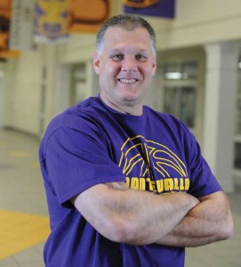 Danny Young is the basketball coach at the University of Montevallo. (Photo by Jon Goering.)