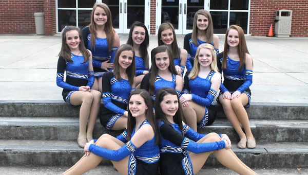 The CMS Starlet Dance Team won awards this year at state and national competitions. Front, from left, Captain Lauren Mims and Co-Captain Emily Acton; second row, from left Leanna Hudson, Madeline Rigdon and Emma Harvey; back row, from left MacKenzie Day, Hannah Dawson, Ashton Crihfield, Catherine Cole, Lauryn Bower, Haley Lorimer. (contributed)