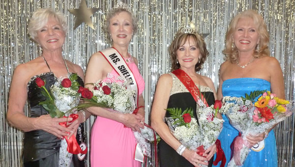 Winners at the Ms. Senior Shelby County Pageant: Miss Congeniality Heidi Manley; Ms. Senior Shelby County 2013 Cindy Nicholson, Ms. Senior Heart of Dixie Donna McGuffie, First Alternate Tricia Hartsfield. (contributed)