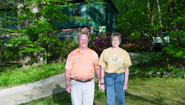 Tom and Becky Rogers took first place in teh residential category of the Montevallo beautification awards. (contributed)