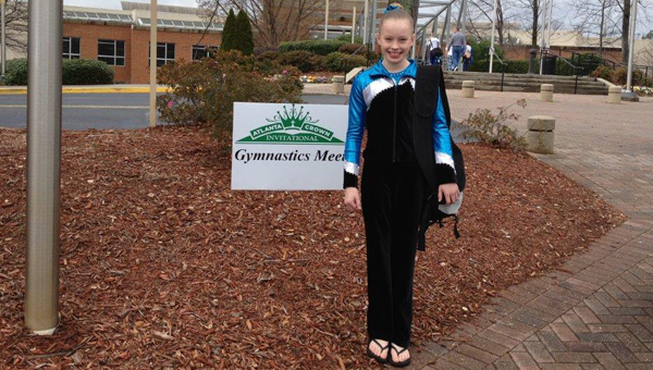 Macy Hastings, a fifth grader at Thompson Intermediate,  placed fifth overall at the 2013 USAG Region 8 Level 7/8 Regional Championships held at Georgia State University. (Contributed)