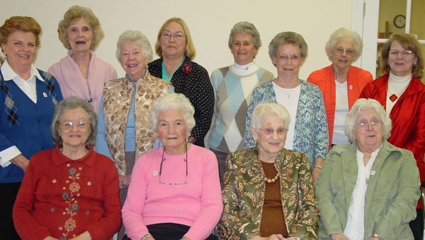 Spring Creek Church ladies attending the luncheon on March 21: Front, from left are Jackie Ingram, Pauline Letlow, Zemma Sproul, Barbara Ingram. Back, from left, Beverly Stamps, Jo Ina Alexander, Kathryn Keeton, Janet Freeman, Pauline Ingram, June Taff, Ethel Taff, Mary Arledge. (contributed)
