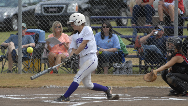 Cornerstone Christian's Brooke Calma went 2-for-5 with two runs and pitched the Lady Chargers to a game two victory over Abbeville Christian Academy April 22. (Reporter photo/Mickel Ponthieux)