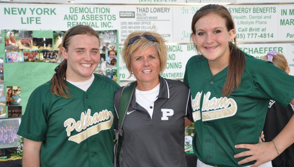The Pelham Panthers softball team celebrated senior night with an 8-3 victory over Hueytown April 25. Pelham seniors Alicia Richardson and Whitney Gillespie were honored by head coach Amy Sullivan. (Contributed)