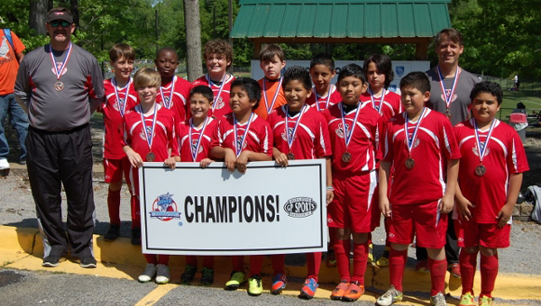 The city of Alabaster youth recreation soccer team U-11 Warriors won the Hoover Havoc April 21, in their age bracket and division.