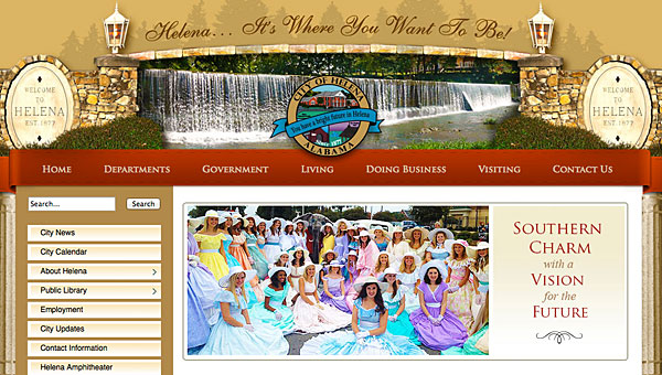 Helena recently worked with the Pelham-based Ingenuity company to update its website at Cityofhelena.org. (Contributed)