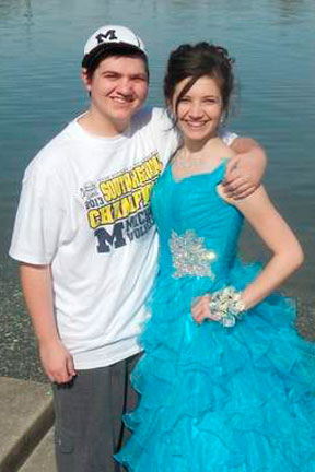 Nick Hill with his sister, Morgan. (Contributed photo)