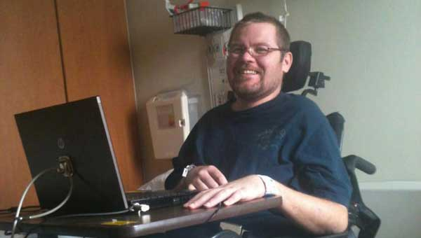 Dean Wilson Jr. is in a wheelchair after contracting MSRA. (Contributed photo.)
