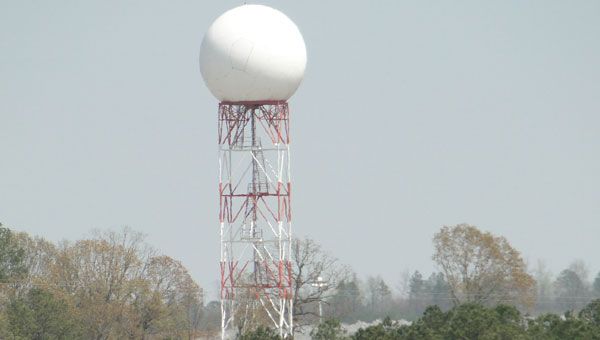 The Doppler radar in Calera was upgraded February 2012 with Dual-Polarization technology to improve the accuracy and identification of precipitation and tornadoes. (contributed)