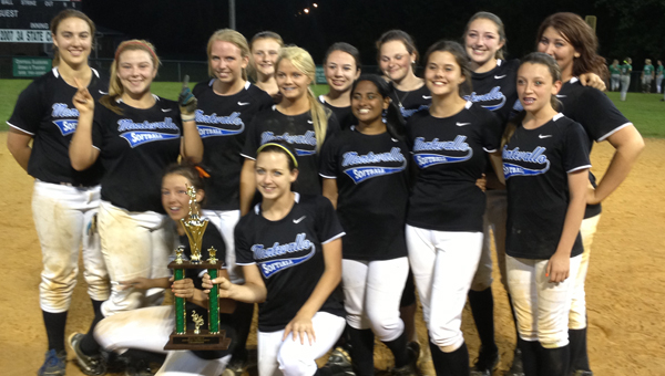 The Montevallo softball team won the Class 3A, Area 6 tournament in Leeds May 2. (Contributed)