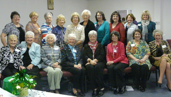 Clubwomen attend District III meeting. Front from left, June Storey (Novella Honorary Member); Bonnie Atchison (Novella); Ann Head (Culture); Linda Cundiff (Culture President); Peggy Wood (Novella and District III Director); Barbara Robinson (Vignette President); Diane Moore (Vignette); and Beverly Hall (Culture). Back from left, Sherry Atchison (Novella); Karen Sweeney (Culture); Pat Miller (Culture); Anne Davis (Culture); Carolyn Knowles (Culture); Ouida Mayfield (Culture); Lisa Sallas (Novella President); Heidee Vansant (Novella); Rachel Fowler (Vignette); and Judy Quick (Culture). (contributed)