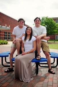 From left, Sam, Hannah and A.J. Hudson. (Reporter photo/Jon Goering)
