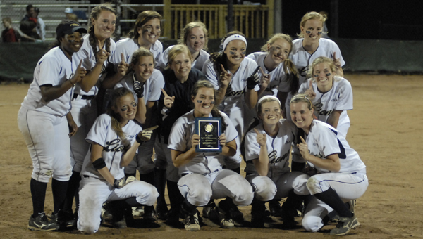 The Briarwood Christian Lions softball team won the Class 5A, Area 8 championship May 8. (Reporter photo/Mickel Ponthieux)
