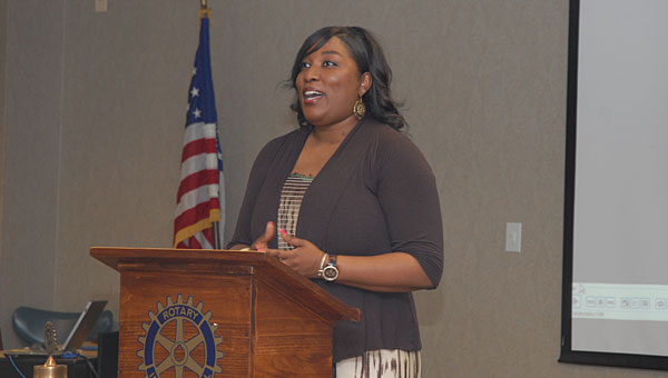 Meadow View Elementary School special-education teacher Leah Wilson was named the Alabaster-Pelham Rotary Club's Teacher of the Month on May 16. (Reporter Photo/Neal Wagner)