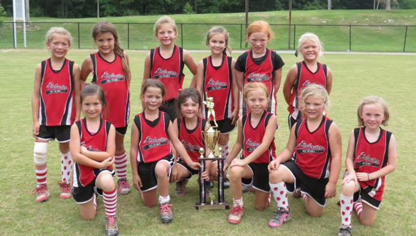 The Alabaster 6U All-Stars captured the Alabama USSSA Second Central Pre-Area Championships June 16. (Contributed)