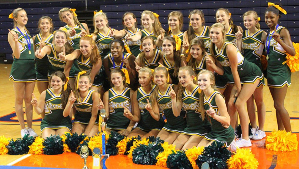 The Pelham High School cheerleading squads recently attended the Universal Cheerleaders Association Camp held May 29-June 1 at Auburn University.
