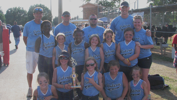 The Calera 8U All-Star softball team finished third in the Area Central South Tournament June 20-22. (Contributed)