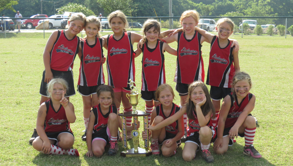 The Alabaster 6U Girls Softball All Stars finished second in the USSSA Area Championship June 20-22. (Contributed)