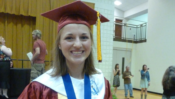 Jacqueline Head, SCHS valedictorian and winner of the Johnson-Pope Award, the highest award given to a SCHS student, will attend the United States Military Academy at West Point beginning July 1. (contributed)