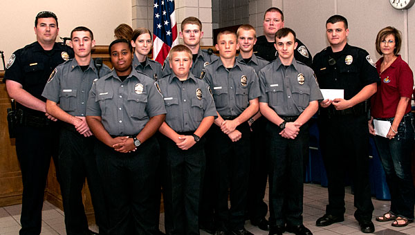 The Helena Police Explorers received a $780 donation during a June 4 Helena City Council meeting. (Contributed/Laura Brookhart)