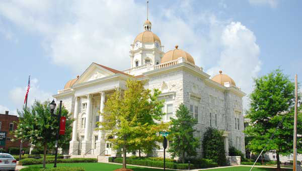 The U.S. Supreme Court overturned a key section of the Voting Rights Act, ruling in favor of Shelby County in the Shelby v. Holder case. Pictured is the Shelby County Courthouse. (Photo by Jon Goering/For the Reporter.)