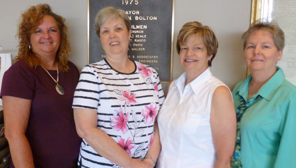 The ladies behind the scenes at Columbiana City Hall: Lisa Lively, Kathy Corbitt, Joanna Seale and Fran Sammons. (contributed)