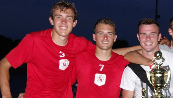 Senior Shane Howard, junior Gary O'Neill and freshman Thomas Davis helped the Admirals, based in Erie, Pa., capture the NPSL Midwest Region championship this summer. The Admirals finished the regular season with a 6-3-3 mark in the Great Lakes Division.