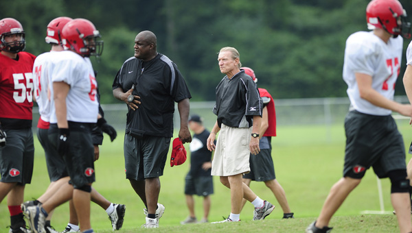 The Thompson Warriors face the Pell City Panthers in a preseason road game Aug. 23. (Reporter Photo/Jon Goering)