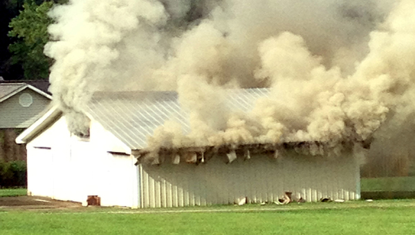 A shop located at 324 Old Highway 25 in Columbiana burned down Aug. 19. (Contributed)