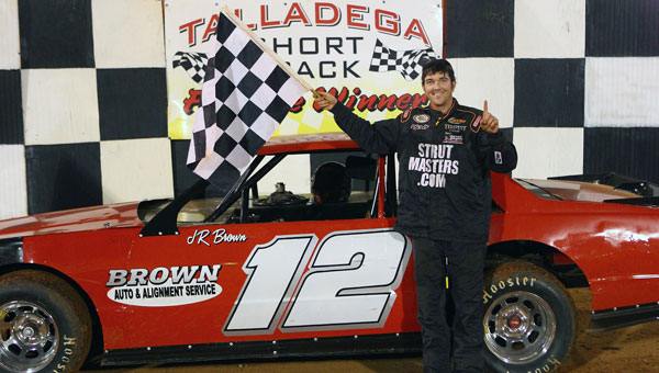 Brown Auto & Alignment Service owner J.R. Brown won Talladega Short Track's first-ever NeSmith Performance Parts Street Stock Division race. (Contributed/Glenn F. Katauskas)