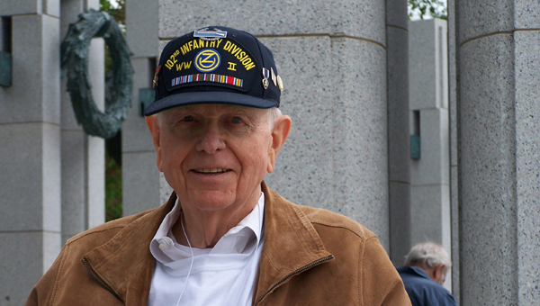 WWII veteran Cecil Wooten attended Honor Flight Birmingham's first flight to Washington D.C. in April 2008. (Contributed Photo)