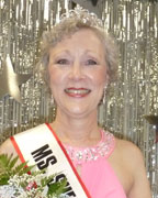 Cindy Nicholson was crowned Ms. Senior Shelby County 2013 wearing her pink evening gown celebrating her adventure as a breast cancer survivor. (contributed)