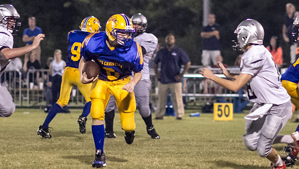Hope Christian School's Ben Nabors carries the ball during the Eagles' 74-8 victory over North River Christian Academy. (Contributed/Twanna Arnold)