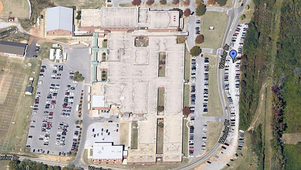 "Alabaster City Schools and Shelby County are working to upgrade Thompson High School's ""gravel pit"" parking area. (Contributed)"