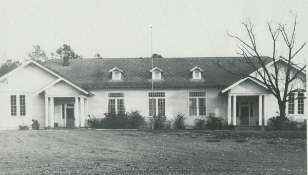 Chelsea's first school building, located on Shelby County 39. Picture taken in 1940s. (contributed)