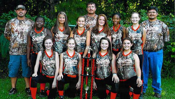 The Columbiana Snipers captured the 2013 Alabama NSA 14u Softball World Series Championship in Boaz on July 20.